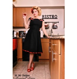 Off The Shoulder Vintage Pinup Roses Dress