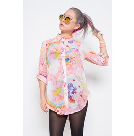 Iron Fist Clothing Womens Clouds Of Caring Care Bears Blouse