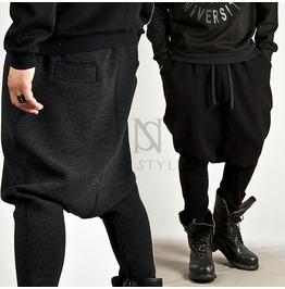 Low Crotch Deep Baggy Knit Sweatpants 143 (Gray)