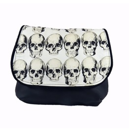 Rad Skulls On Natural Kelsi Ii Cross Body Purse Mini Messenger