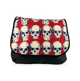 Rad Skulls On Red Kelsi Ii Cross Body Purse Mini Messenger