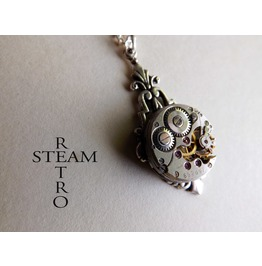 Art Deco Steampunk Necklace Steampunk Jewellery Steampunk Necklace