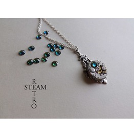 Art Deco Steampunk Vitrail Necklace Steampunk Jewellery Steampunk Necklace