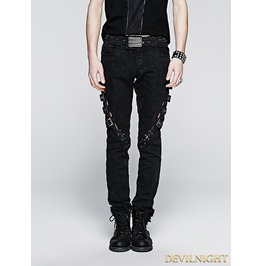 Vintage Gothic Punk Jeans For Men