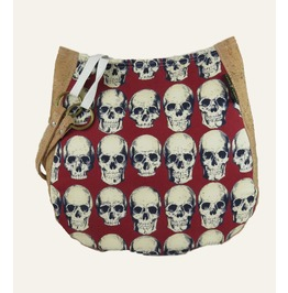 Rad Skulls In Red Purse Charla Over The Shoulder Purse With Cork Accents