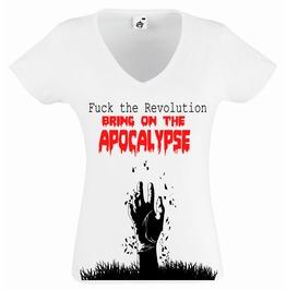 Hell Brat Fuck The Revolution Bring On The Apocolypse Ladies Tshirt