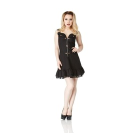 Jawbreaker Ultimate Steampunk Mini Ruffle Party Dress