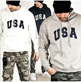 Neat Basic Usa Printed Hoodie 77