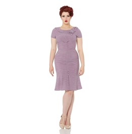 Voodoo Vixen Gabriela Lilac Pretty Flounce Pencil Dress