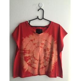 Tie Dye Color Fashion Pop Rock Crop Shirt