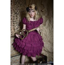 Gloomth Chrysanthemum Gothic Lolita Dress In Black Sizes Xs 2 Xl