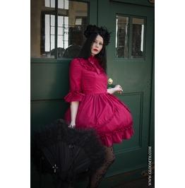 Gloomth Gothic Victorian Sorrow Dress In Black Sizes Xs 2 Xl