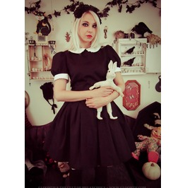 Gloomth Doll Dress With Peter Pan Collar And Lace Trim Sizes Xs 2 Xl