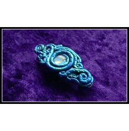 Blue & Green Abstract Tentacle Hair Barrette