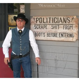 """""""Maverick"""" Western Style Men's Vest"""