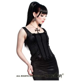 Gothic Victorian Alternative Velvet And Tulle Top From Sinister