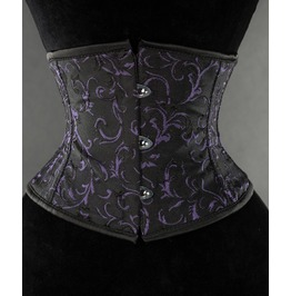 Steel Boned Amethyst Waist Cincher $9 Worldwide Shipping