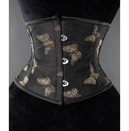 Steel Boned Gold Butterfly Waist Cincher $9 Worldwide Shipping