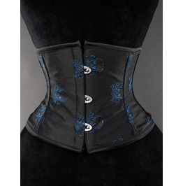 Steel Boned Blue Skull Waist Cincher $9 Worldwide Shipping