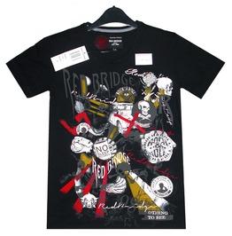 Men T Shirt Red Bridge 100% Cotton Skull & Pirate Super Design Printed 2051