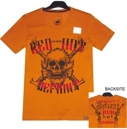 Men T Shirt Red Bridge 100% Cotton Skull & Pirate Super Design Printed 2041