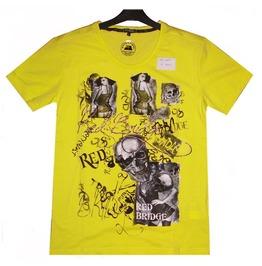 Men T Shirt Red Bridge 100% Cotton Skull & Pirate Super Design Printed 2025
