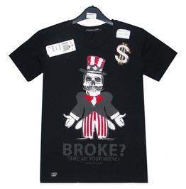 Men T Shirt Red Bridge 100% Cotton Skull & Pirate Super Design Printed 2048