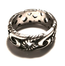 Unique Rope Design Metal Ring Us Size 7
