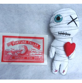 Small Valentine Gift Kit Voodoo Doll The Little Mummy Blue Eye Valentine
