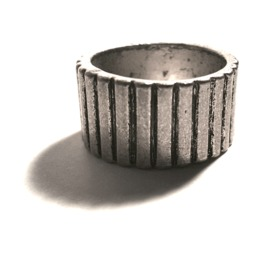 Unique Line Design Metal Ring Us Size 8
