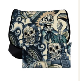 Sugar Skull Blue Tattoo Kelsi Ii Contigo Cross Body Purse With Wallet