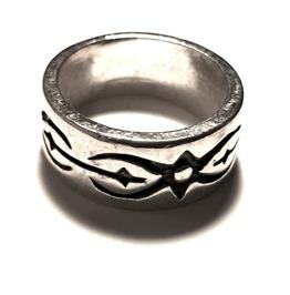 Unique Script Tribal Ring Design Silver Metal Ring Us Size 7.5
