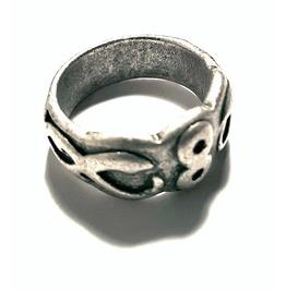 Unique Tribal Inca Design Metal Ring Us Size 8