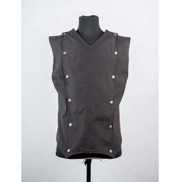 Brown Stripe Gothic Steampunk Vest For Men