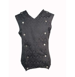 Black pattern gothic vest for men vests 3