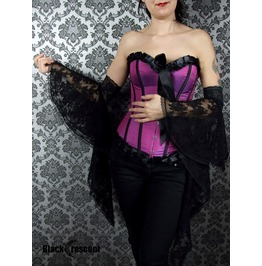 Medieval Inspired Long Black Lace Gloves, Gothic,Burlesque,Wedding