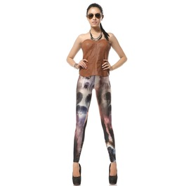 Punk Style Skull Head Print Leggings Pants