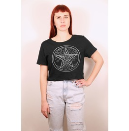 Spell Book & Witchcraft Cover Inspired Tshirt With Pentagram Three Of Life