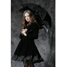 Aum004 Gothic Lolita Five Angle Shape Umbrella Gothic Dress Match
