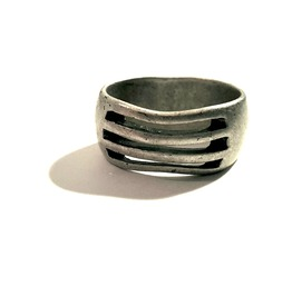 Unique Contemporary Slotted Line Design Silver Metal Ring Us Size 10