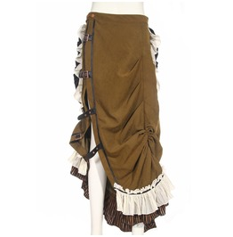 Steampunk Buckles Victoria's Maxi Skirt Sp083 Gb