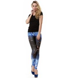 Blue Sky Space Galaxy Leggings Pants