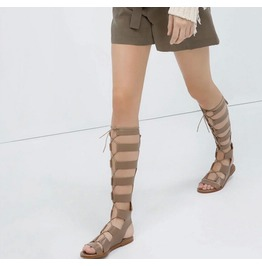 2016 Fashion Women Gladiator Flats Sandals Boots Shoes