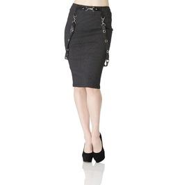 Jawbreaker Grovel Bondage Punk Pencil Skirt
