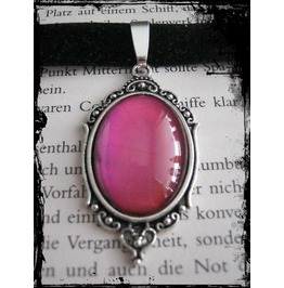 Necklace (Velvet), Pink Stone