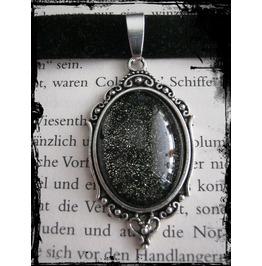Necklace (Velvet), Glitter Gold Stone