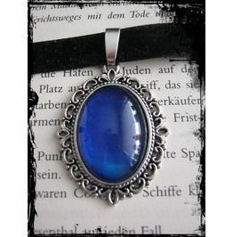 Necklace (Velvet), Blue Stone