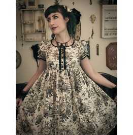 Gloomth Victorian Bird Babydoll Dress Sizes Xs To Xl**Last One