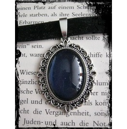 Necklace (Velvet), Dark Blue Stone