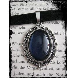Necklace (Velvet), Dark Blue Stone